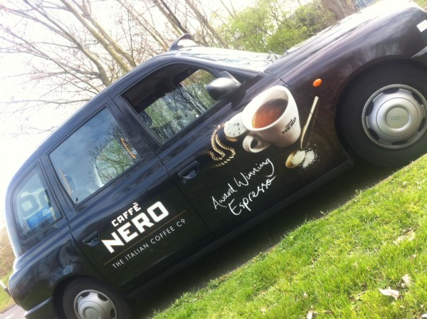 Out Of Home International - Caffe Nero - Taxi Advertising