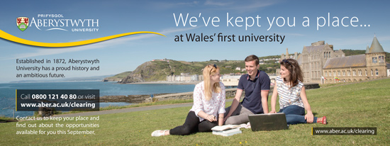 Aberystwyth University advertisement